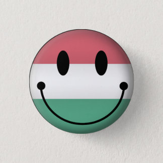 Hungary Smiley 1 Inch Round Button
