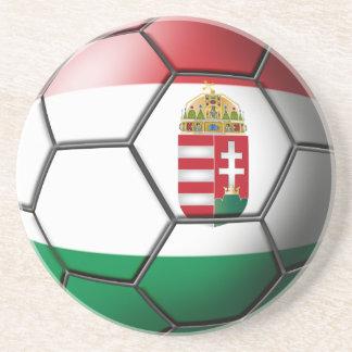 Hungary Soccer Ball Coasters