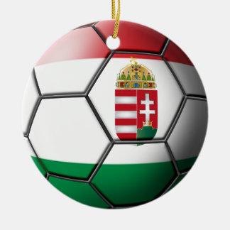Hungary Soccer Ornament