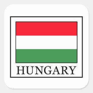 Hungary Square Sticker