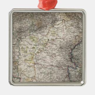 Hungary, Transylvania, Slavonia, Croatia Silver-Colored Square Ornament