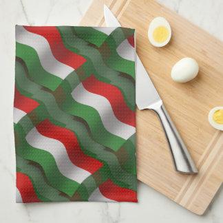 Hungary Waving Flag Kitchen Towels