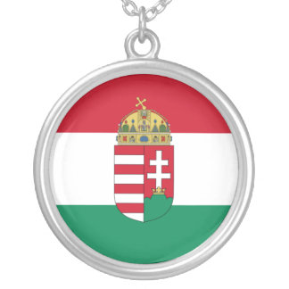 Hungary With Arms (State), Hungary Silver Plated Necklace