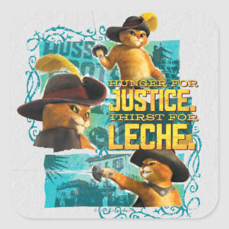 Hunger For Justice Square Sticker