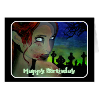 'Hunger in the Emerald Night' Birthday Card