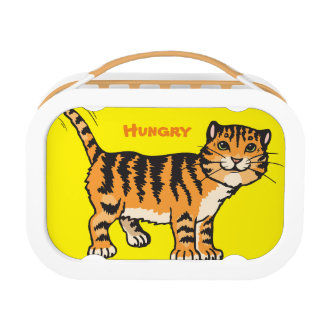 Hunger Tiger Lunchbox, Orange Lunch Boxes