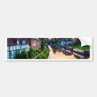 Hungerford Canal Sunset Bumper Sticker