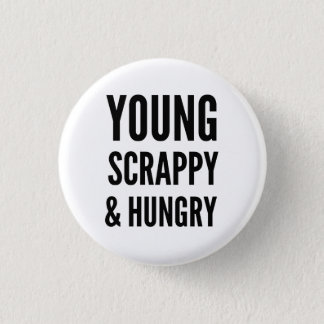 Hungry 1 Inch Round Button