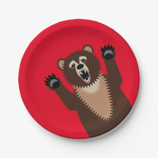 Hungry as a Bear 7 Inch Paper Plate