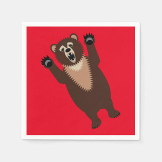 Hungry as a Bear Paper Napkins