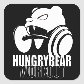 Hungry Bear Square Sticker