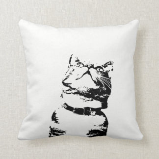 Hungry Cat Throw Pillow