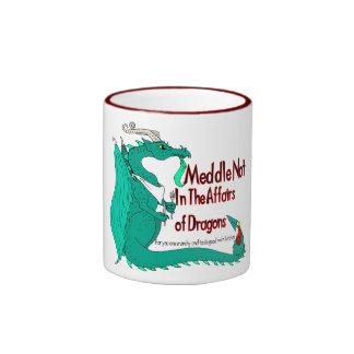 Hungry Dragon Ringer Mug