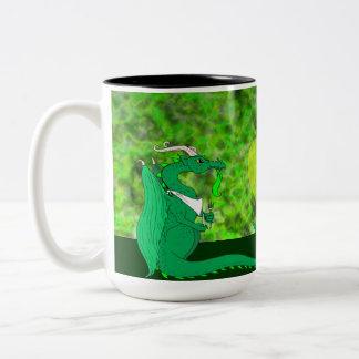 Hungry Dragon Two-Tone Coffee Mug