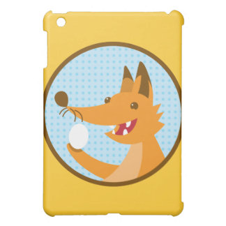 Hungry Foxy cute fox holding an egg iPad Mini Case
