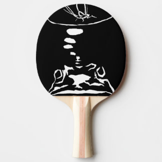 """Hungry Frog Dreams"" Ping Pong Paddle"
