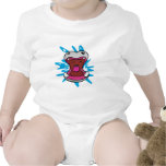 hungry hippo baby bodysuit