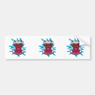 hungry hippo bumper sticker
