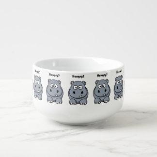 Hungry Hippo Cartoon Soup Mug