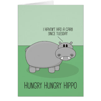 Hungry Hippo Greeting Card