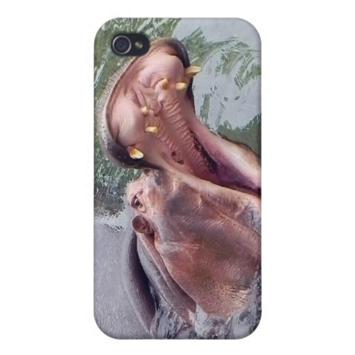 Hungry Hippo Mouth Photo iPhone 4 Cover