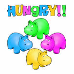 Hungry Hippos Standing Photo Sculpture