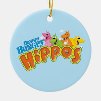 Hungry Hungry Hippos Ceramic Ornament