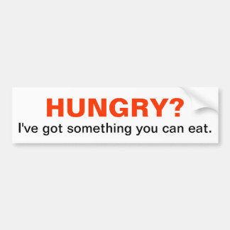 HUNGRY? I've got something you can eat. Bumper Sticker