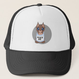 hungry kitty trucker hat