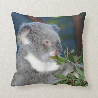 Hungry Koala Throw Pillow