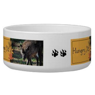 Hungry Like a Wolf Dog Food Dish