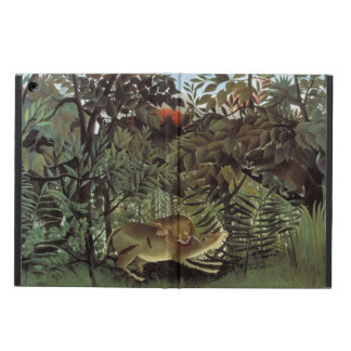 Hungry Lion by Henri Rousseau, Vintage Wild Animal iPad Air Case