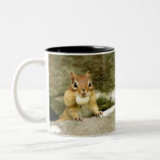 Hungry Little Chipmunk Two-Tone Coffee Mug