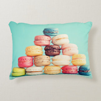 Hungry, Macaron, hipster,multicolor,sweets cookies Accent Pillow