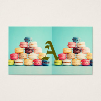 Hungry, Macaron, hipster,multicolor,sweets cookies Business Card