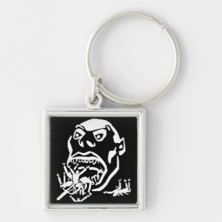 Hungry Man / Moloch a Faim Silver-Colored Square Keychain