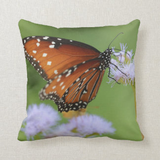 Hungry Monarch Butterfly Throw Pillow