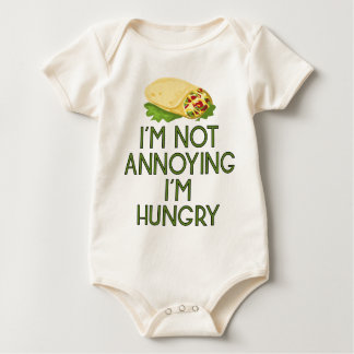 Hungry nearly Food Burger Lunch hunger Dinner Baby Bodysuit
