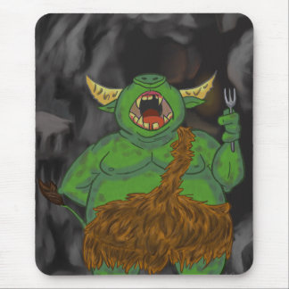 Hungry Orc with a Fork Mouse Pad
