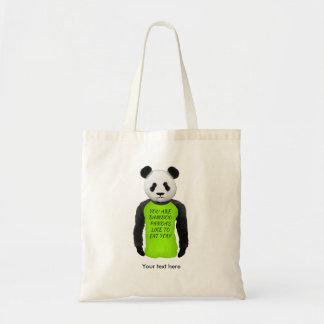 Hungry Panda Wearing A Funny Tshirt