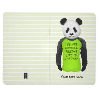 Hungry Panda Wearing A Funny Tshirt Journal
