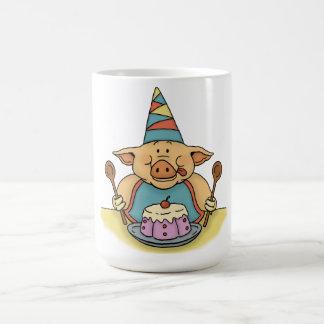 hungry piggy birthday party mug
