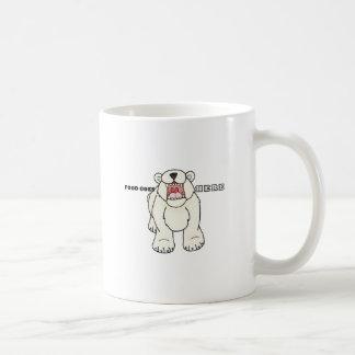 Hungry Polar Bear Coffee Mug