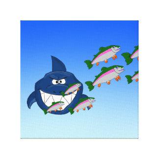Hungry shark canvas prints