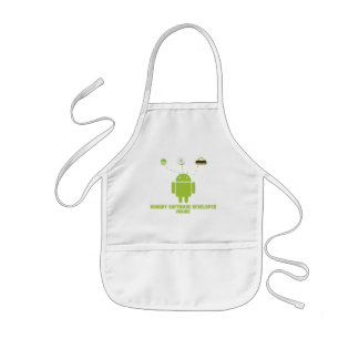 Hungry Software Developer Inside (Android) Kids Apron