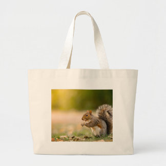 Hungry Squirrel Large Tote Bag