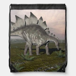 Hungry stegosaurus - 3D render Drawstring Bag