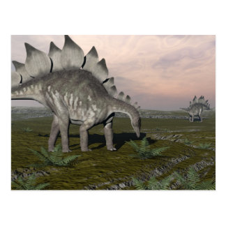 Hungry stegosaurus - 3D render Postcard