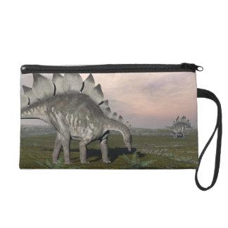 Hungry stegosaurus - 3D render Wristlet Clutches