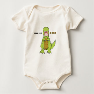 Hungry T-Rex Baby Bodysuit